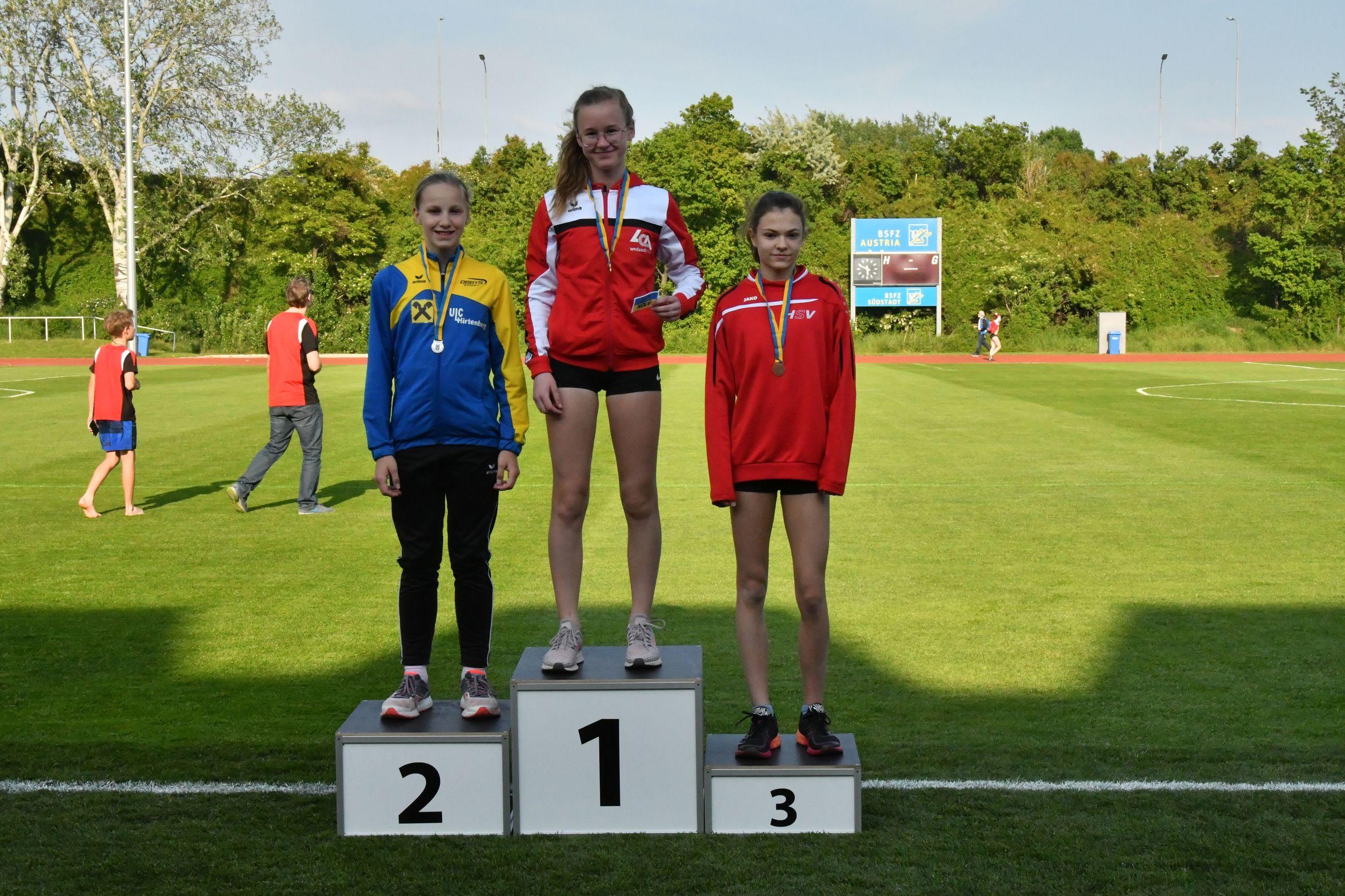 NÖLV-Medaillengewinnerinnen U16